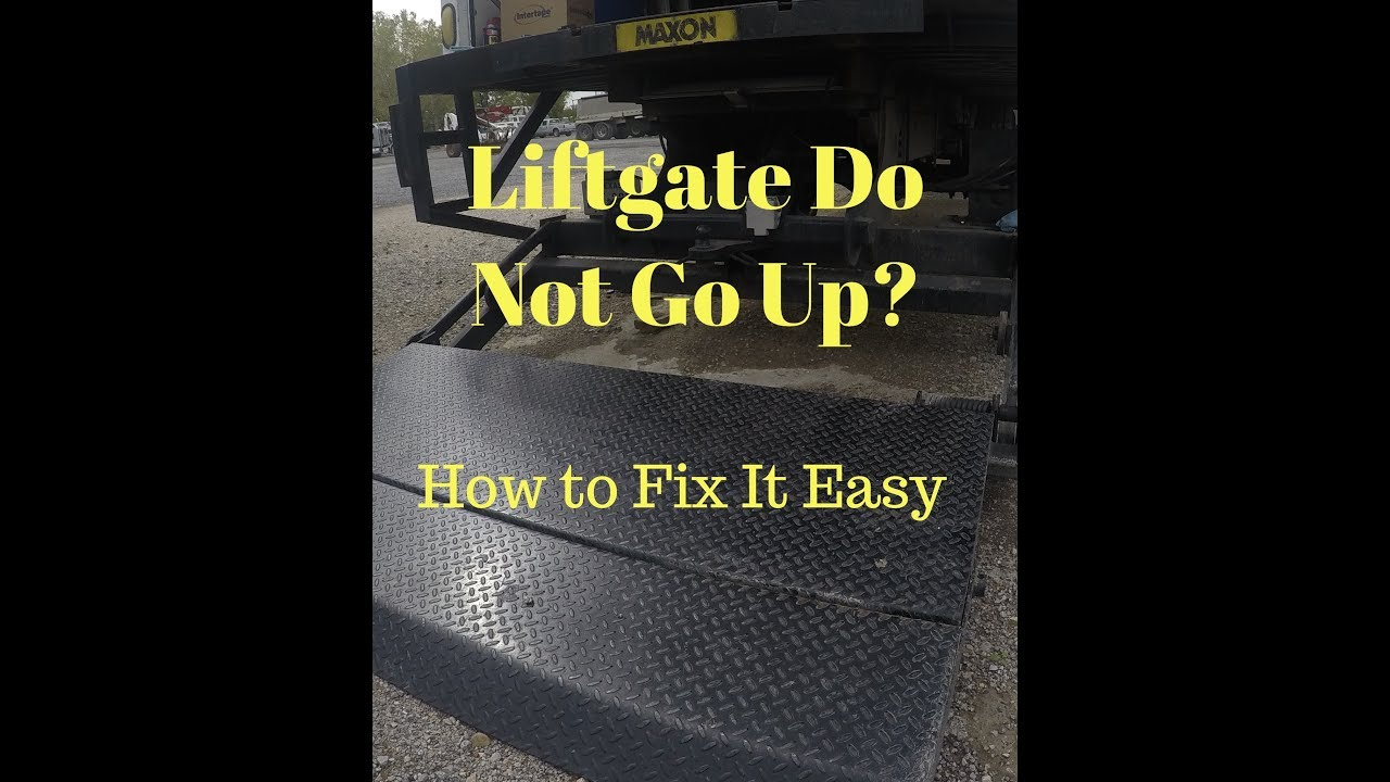 truck lift gate wiring diagrams how to fix a maxon liftgate that won t go up youtube  how to fix a maxon liftgate that won t
