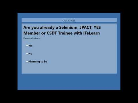 Job Placement and Certified Training. Day 1. CSDT(Certified Selenium Developer Training)