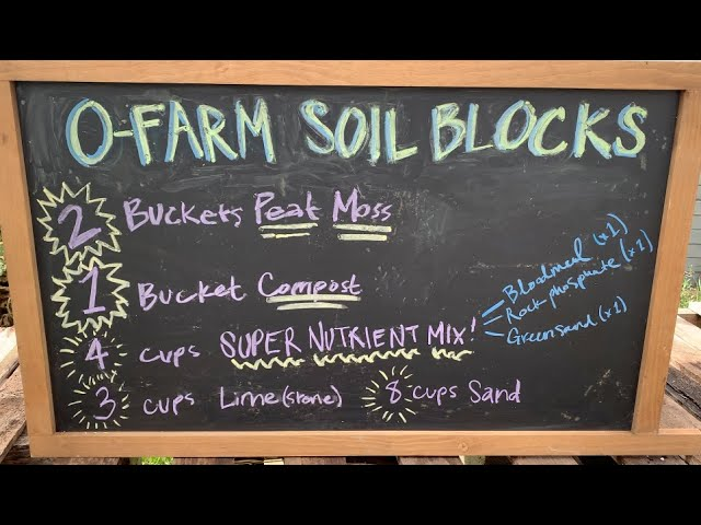 Soil Blocking at the O Farm