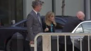 Felicity Huffman arrives at court in college scam