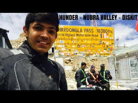 LEH TO KHARDUNGLA PASS | NUBRA VALLEY | HUNDER | DISKIT MONASTERY | LADAKH | TVS JUPITER | 2017