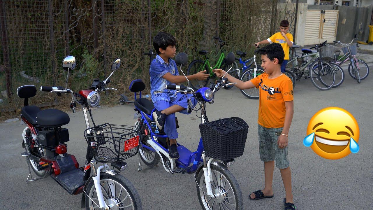 تحشيش أول يوم العيد مودي اشترة دراجة شوفوا شسوة برسول ؟ يفوتكم 😂