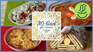 Ramazan 30. Gün İftar Menüsü: Kilis Tava - Semizotu Salatası - Dilim Börek - Mosaik Pasta