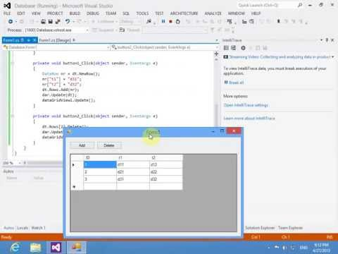 Một số thao tác trên database MS Access trong C#