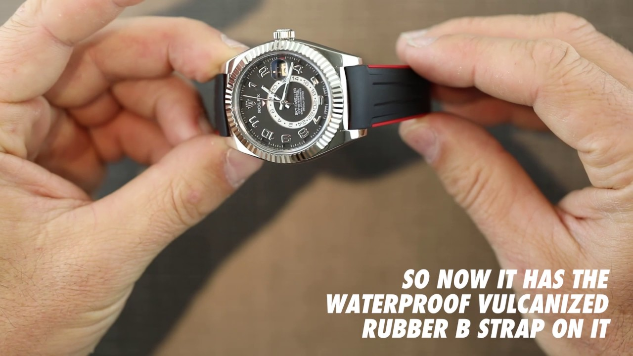 Rolex Skydweller With Rubber B Watch Band Youtube