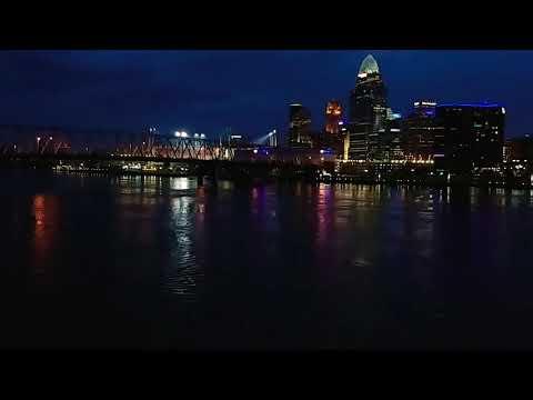 Cincinnati Skyline Timelapse
