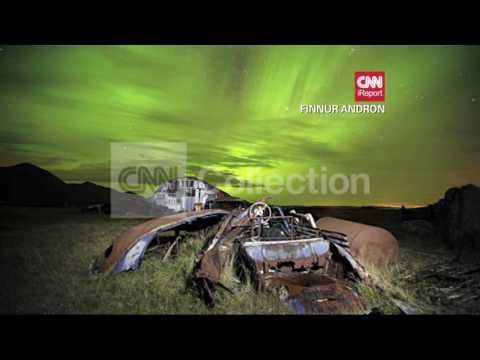 ICELAND: AURORA BOREALIS FILL NIGHT SKY