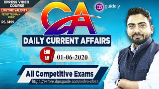 Daily Current Affairs 2020 by Abhijeet Sir | (01 June 2020) Current Affairs