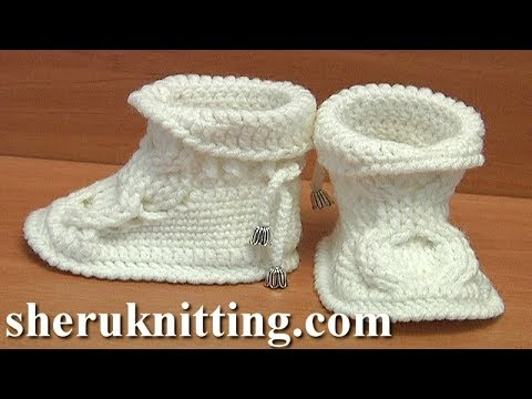 Crochet Sole For Baby Ugg Boots Tutorial 52 Part 1 of 4