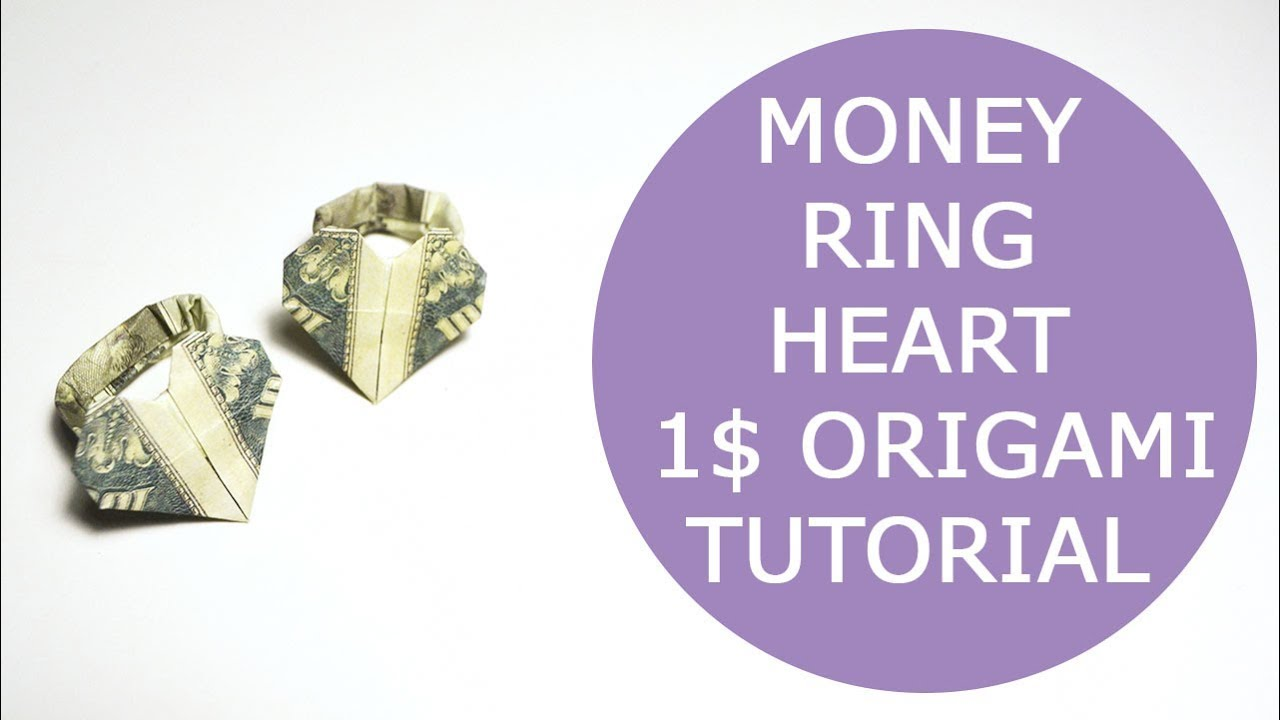 Origami Dollar Heart & Star Tutorial - How to make a Dollar heart ... | 720x1280