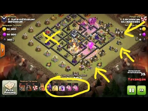 LAVA HOUNDS + BALLOONS - TH 9 ATTACK STRATEGY