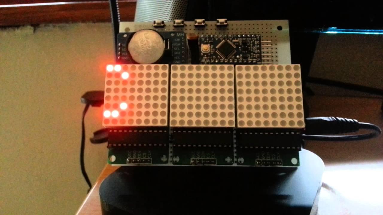 GPS clock  Arduino pro mini 328, 3x MAX7219, DS3231 RTC