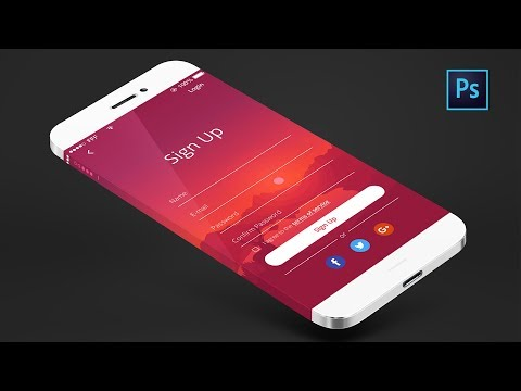 App Design Tutorial | Photoshop CC |  Signup Page Step By Step | UI/UX Design | #Maxpoint-Hridoy