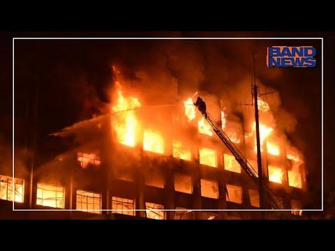 Fogo atinge sede da Secretaria de Segurança do RS em Porto Alegre