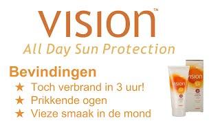 Vision zonnebrand ervaringen / beoordeling / review (Vision All Day SPF20 zonnebrandcrème)