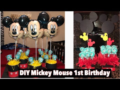 DIY Mickey Mouse 1st Birthday  | Decorations | Centerpieces