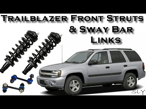 How To Change Chevy Trailblazer Front Struts & Sway Bar Links Step By Step Replacement