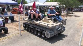 Homemade Tracked Utility Flatbed Vehicle At Vista, California 6-16-18