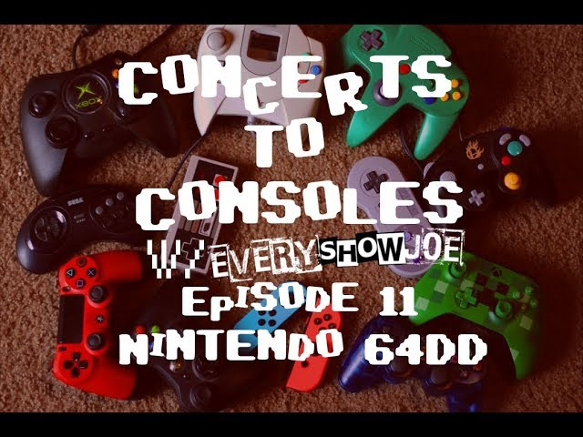 Concerts To Consoles: Episode 11 - Nintendo 64DD: Doshin the Giant and F-Zero X Expansion