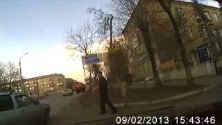 Подстава на дороге от Ауди!!!  Магнитогорск 26.03.2015