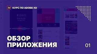 Уроки Adobe XD. Лекция 1. Обзор приложения.