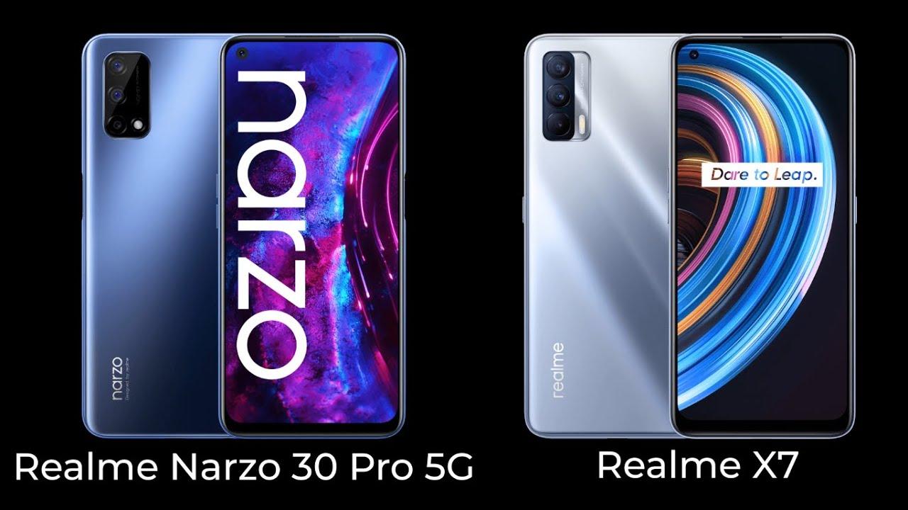 Realme Narzo 30 Pro 5G Vs Realme X7 Price, Comparison & Specifications & Opinion In Hindi