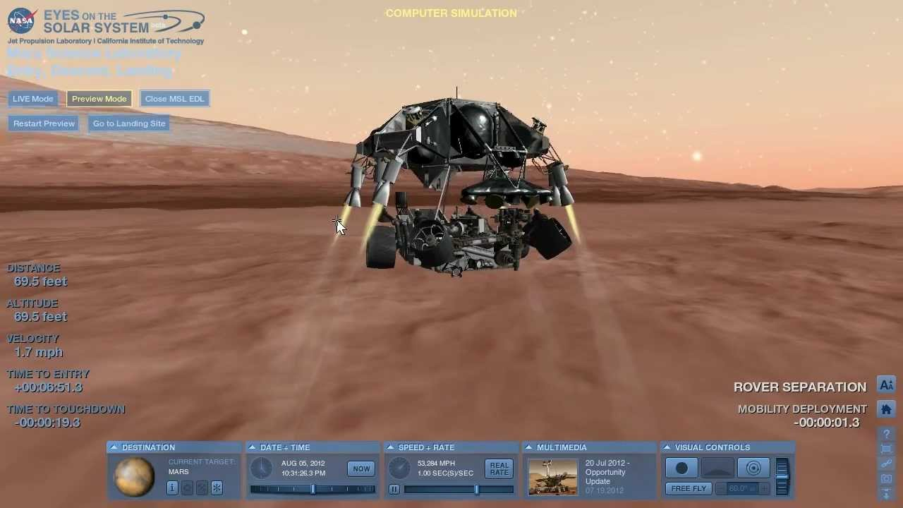 mars rover landing system - photo #10