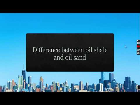 The difference between oil sand and oil shale
