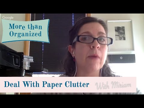How Do You Deal with Paper Clutter?