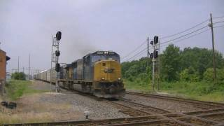 Watching Trains Around Marion, Ohio - July 29, 2011