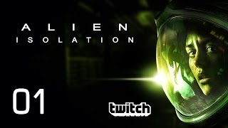 Alien Isolation [01] [Horror Thriller] [Twitch Gameplay Let's Play Deutsch German HD] thumbnail