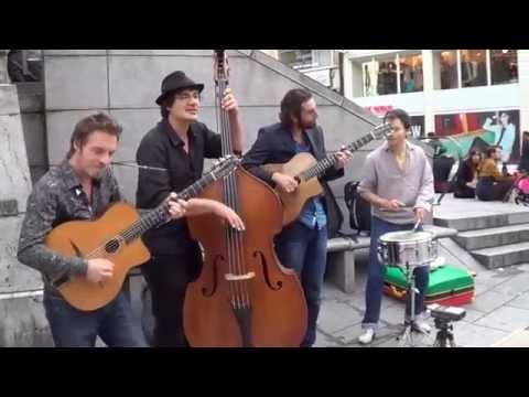Tcha-Badjo - gipsy jazz and tap dance: double bass, guitar, singing