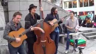 Tcha-Badjo -  gipsy jazz and tap dance: double bass, guitar, singing