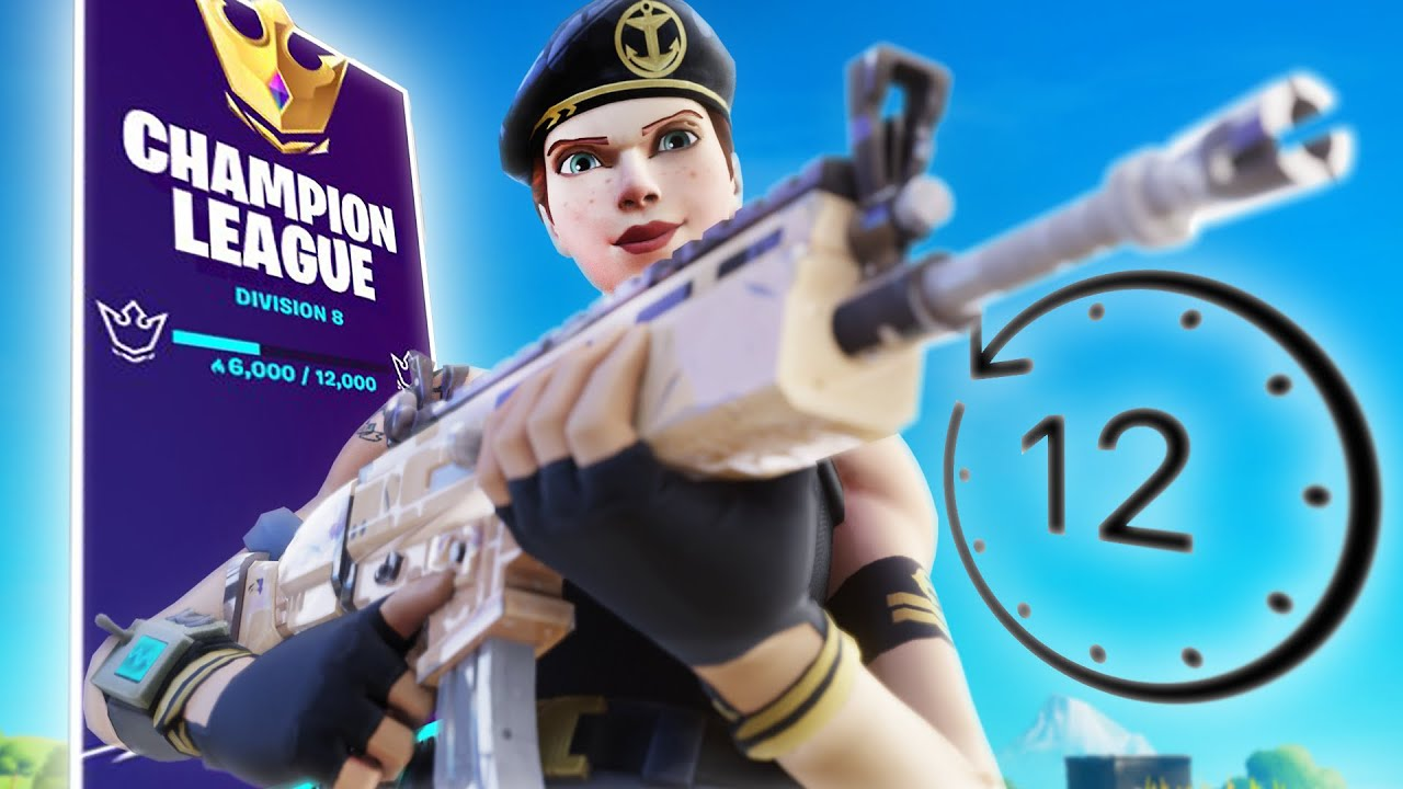 How I reached CHAMPIONS LEAGUE in *12 HOURS* (Fortnite ...