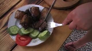Печенка жаренная в сале | Liver fried in fat