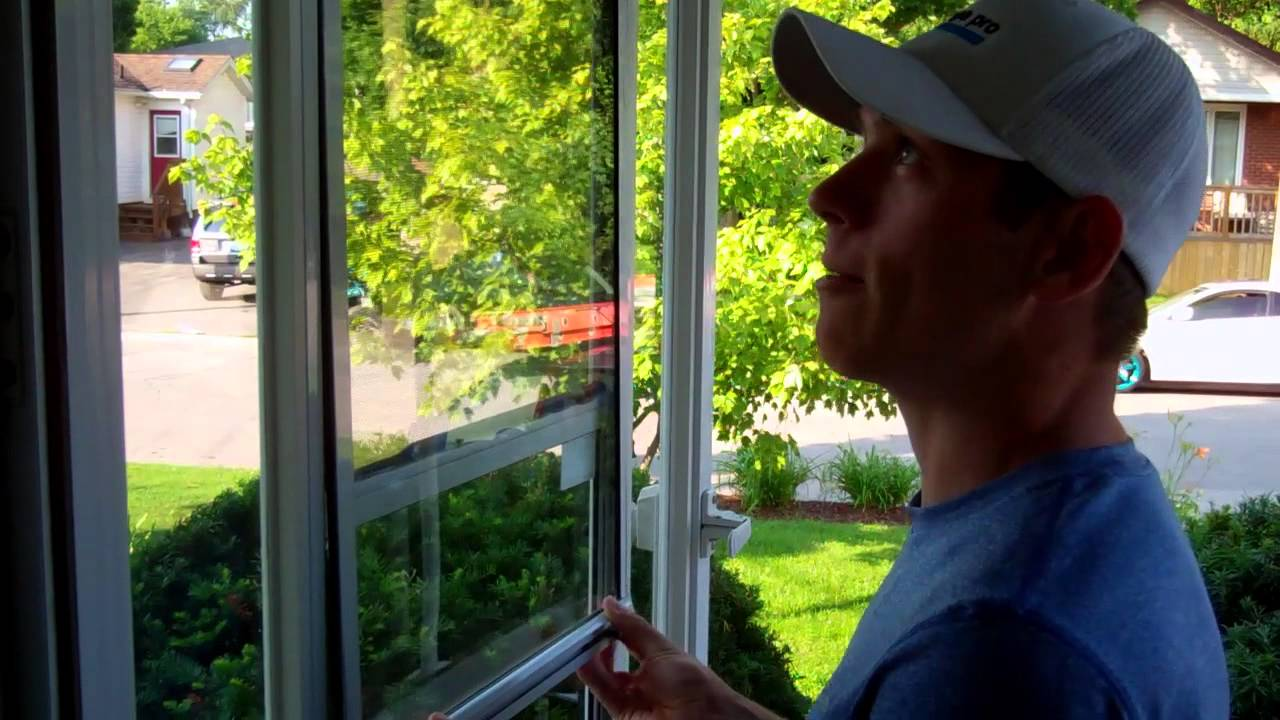 How To Take Apart A Storm Door - YouTube