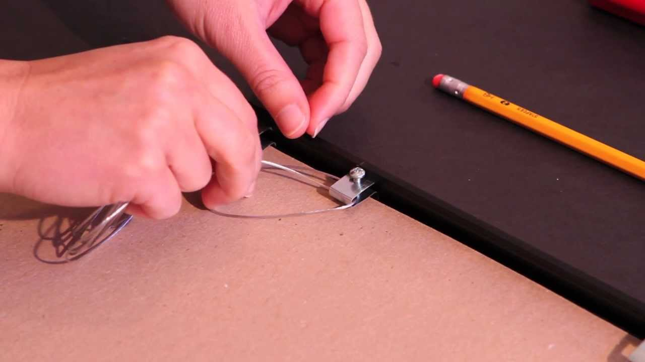 How To Install A Picture Frame Wire | Framess.co