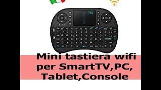 Mini tastiera wireless bluetooth per smart TV, pc, console, box tv, recensione e unboxing