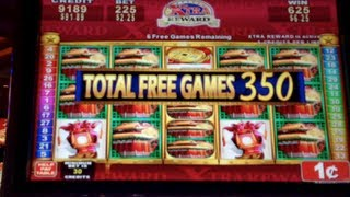 LION FESTIVAL | Konami - 398 Free Spins Big Win! Slot Bonus