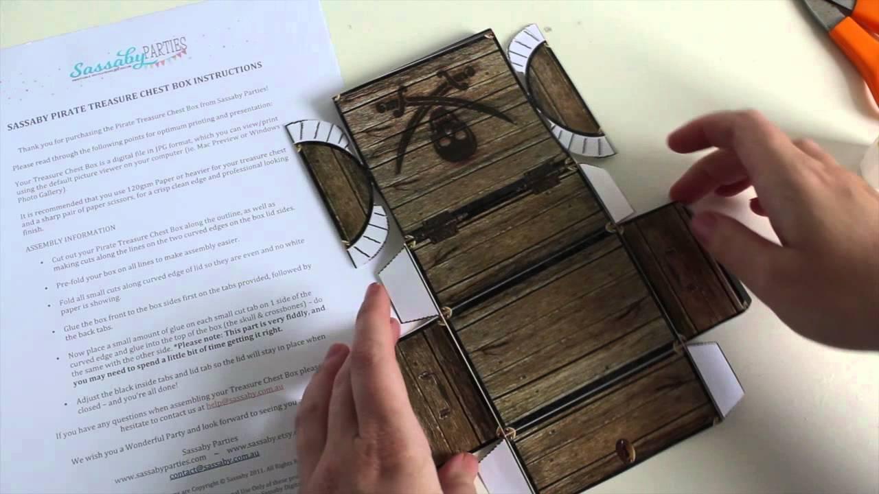 picture regarding Treasure Chest Template Printable called Pirate Treasure Upper body Box Guideline