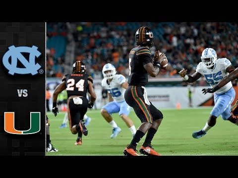 North Carolina vs. Miami Football Highlights (2018)