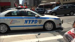 COMPILATION OF MANY DIFFERENT NYPD UNITS PATROLLING THE 5 BOROUGHS OF NEW YORK CITY.  03