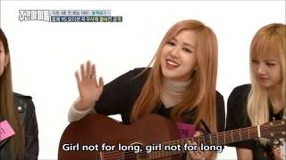Rose Not for long on Weekly idol BLACKPINK