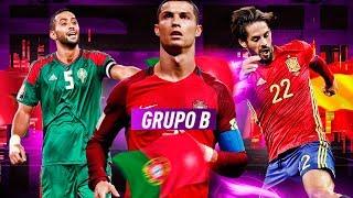 PLANTILLA DE ESPAÑA , PORTUGAL Y MARRUECOS !!! MUNDIAL GRUPO B