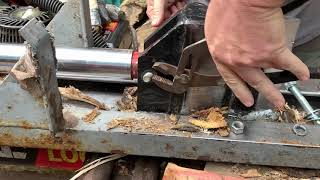 How to replace wedge bolt on Huskee firewood splitter & shoutouts