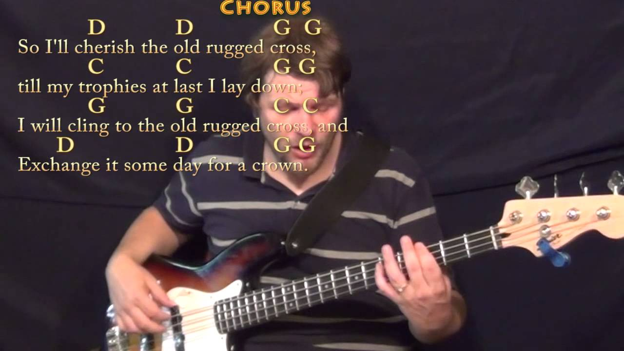 The Old Rugged Cross Hymn B Guitar Cover Lesson In G With Chords Lyrics