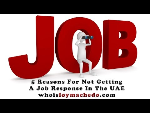 5 Reasons For Not Getting A Job Response In The UAE Or Middle East