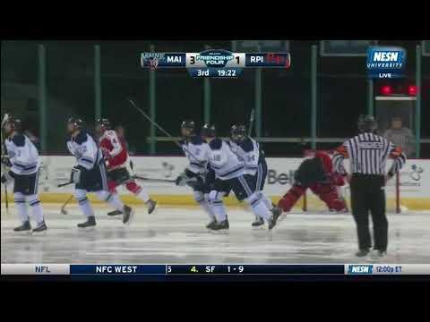 Maine vs. Rensselaer - Friendship Four - Goal Highlights