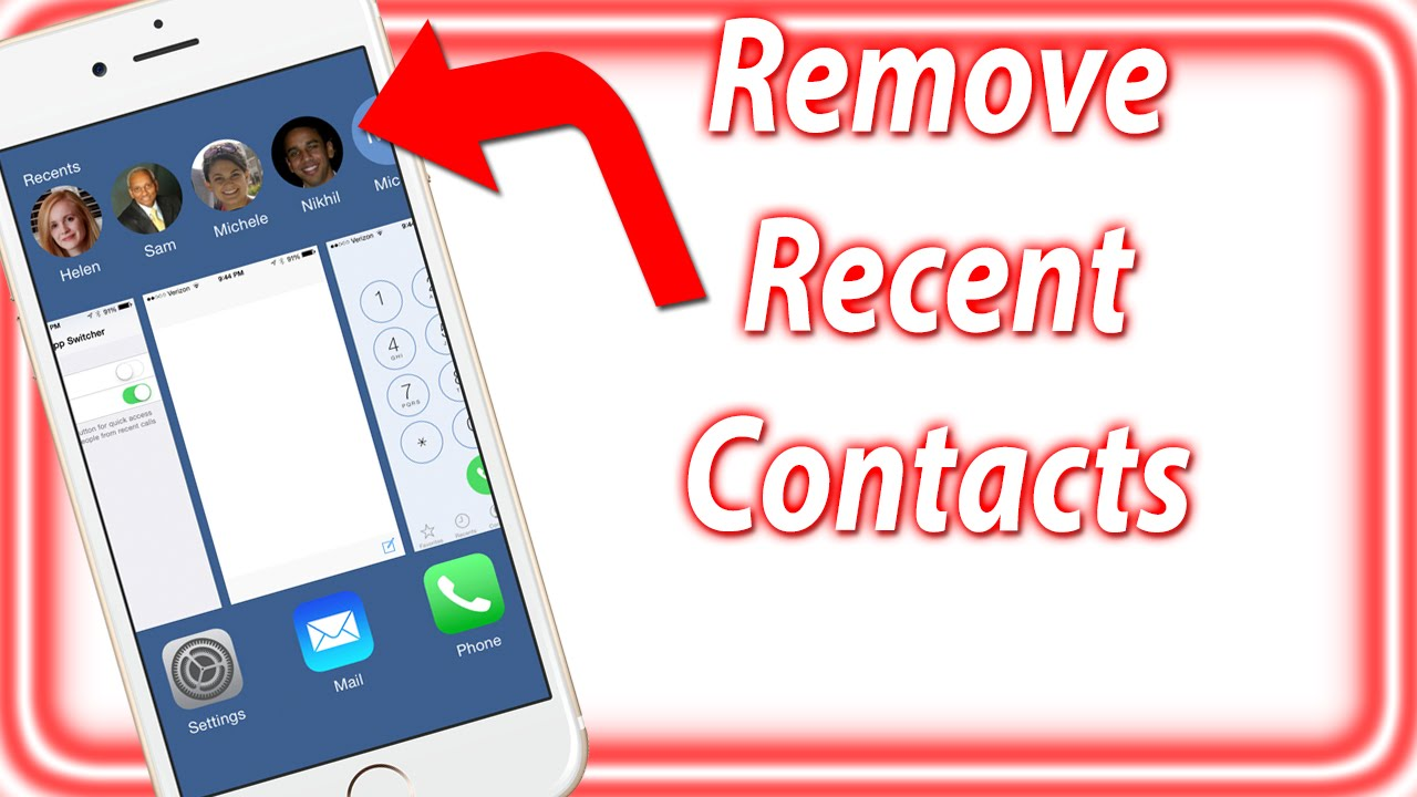 How To Remove Recent Contacts From The Multitask Screen iPhone, iPad, iPod  Touch