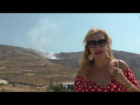 3-8-2020:Για μια ακόμη φορά η χωματερή Καλύμνου καίει και καπνίζει